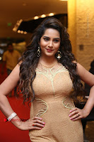 Actress Himaja Stills in Golden Spicy Long Dress at SIIMA Short Film Awards 2017 .COM 0310.JPG