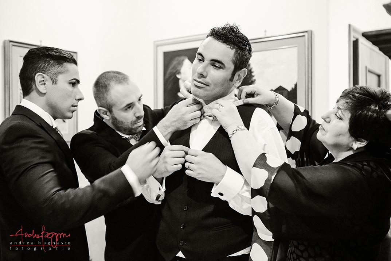 groom getting ready Italy wedding