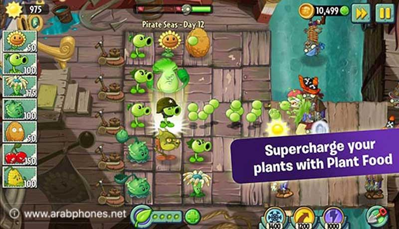 لعبة plants vs zombies 2 مهكرة للاندرويد
