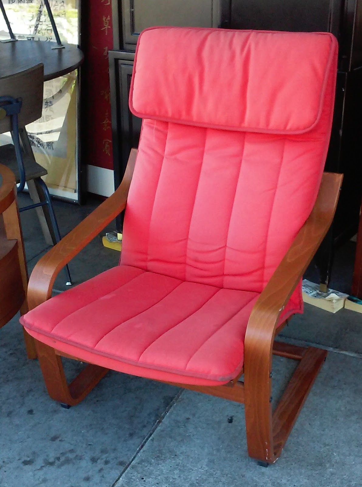 Poang Chairs Cushions For Dining Room Uhuru Furniture And Collectibles Sold Teak Frame Ikea