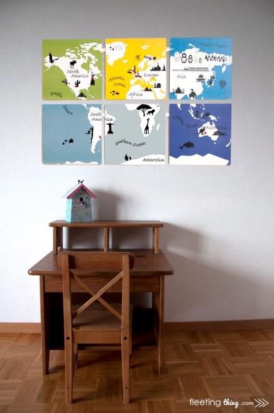 magnetik peta dunia untuk permainan edukatif