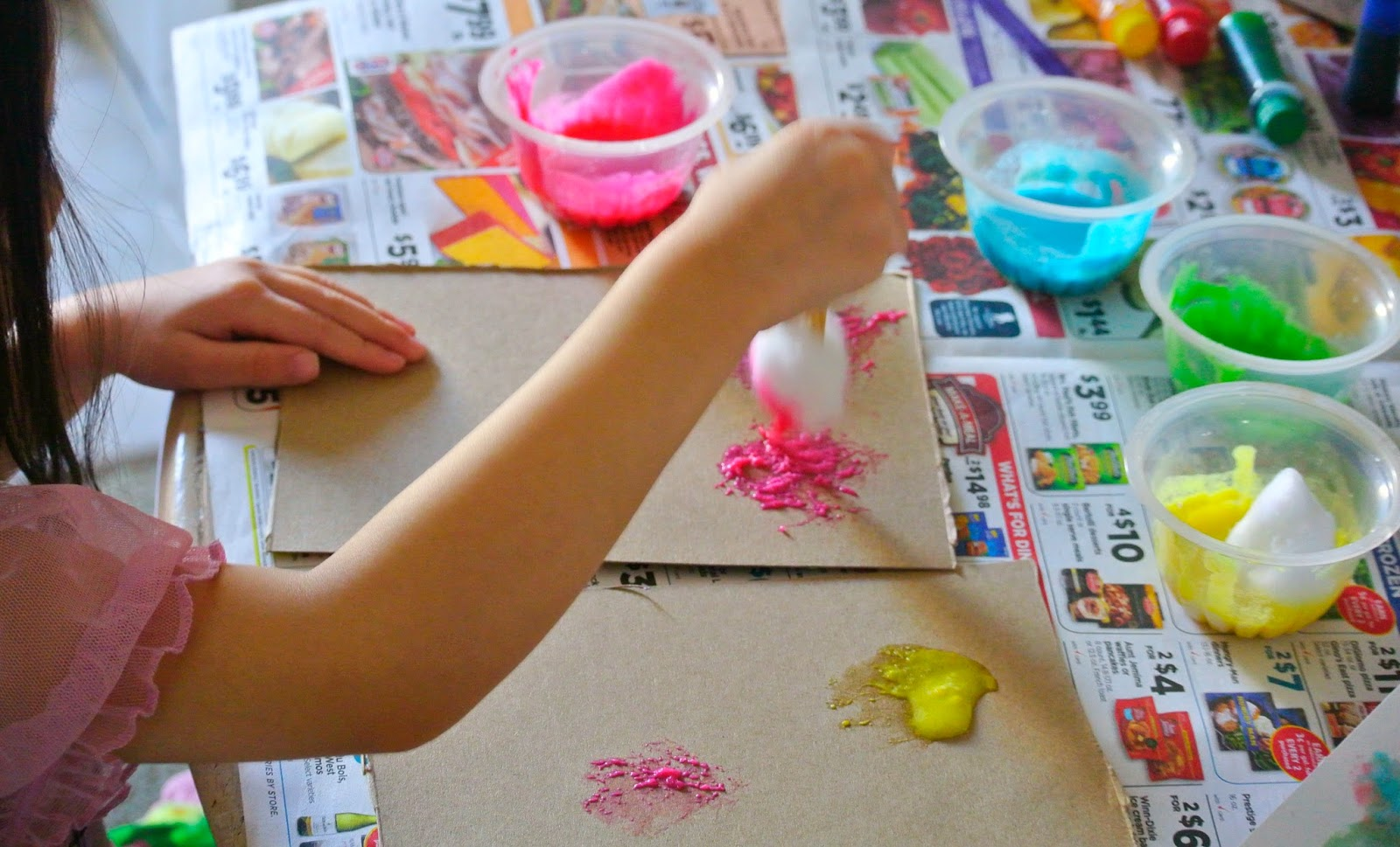 Kids' Art, Flour Paint, Crafts