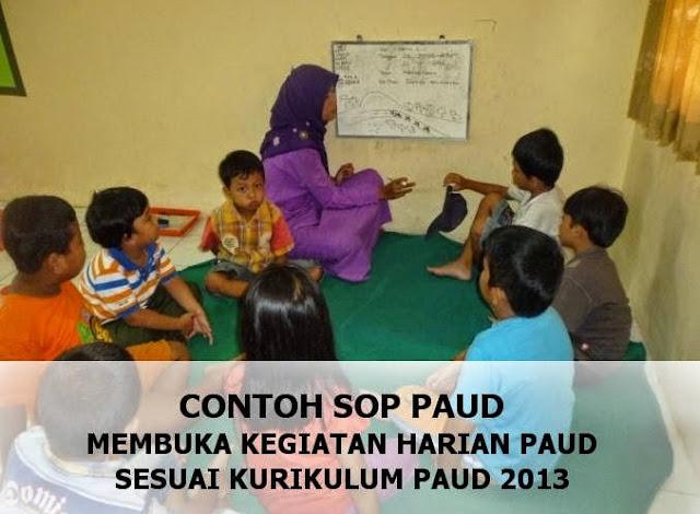 Download SOP Kurikulum 2013 Untuk PAUD, TK, Dan MI Tahun 2018/2019