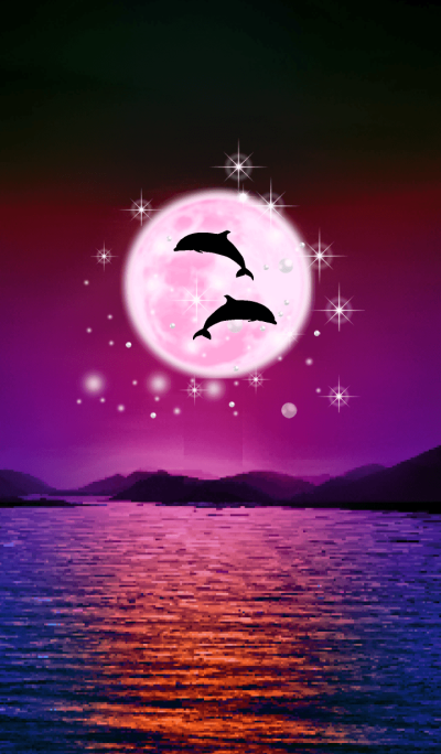 Lucky Strawberry Moon double dolphins 16