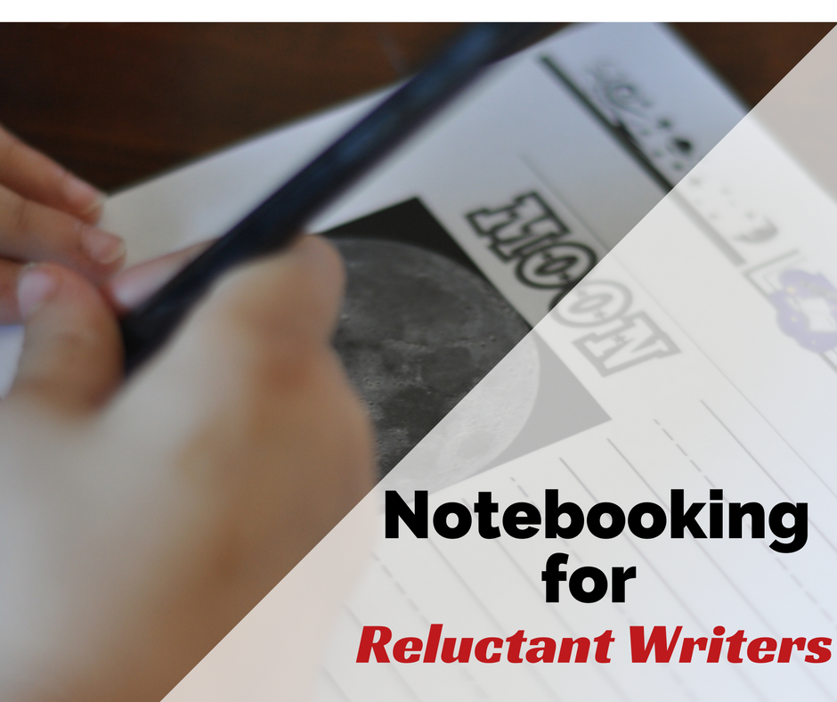 notebooking for reluctant writers