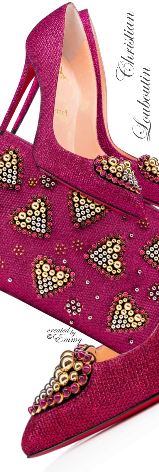 Brilliant Luxury ♦ Christian Louboutin Coralta Mia Glitter Tisse-Veau Velours & Loubiposh Clutch