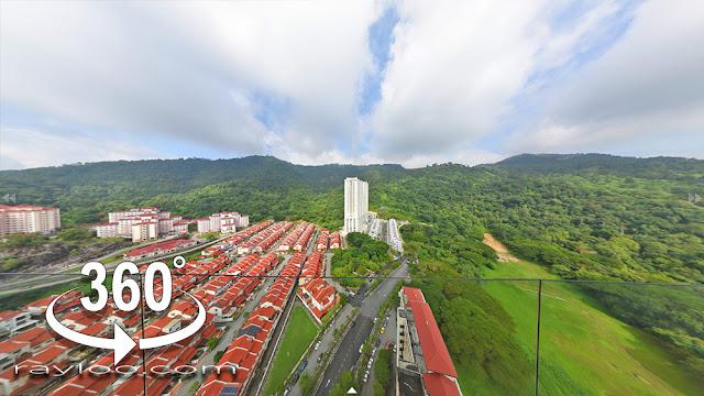 Arte S Gelugor Penang Lifestyle Condo Balcony Hill View