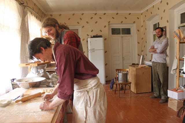 Jean Jacques and his woofers making tagliatelli.