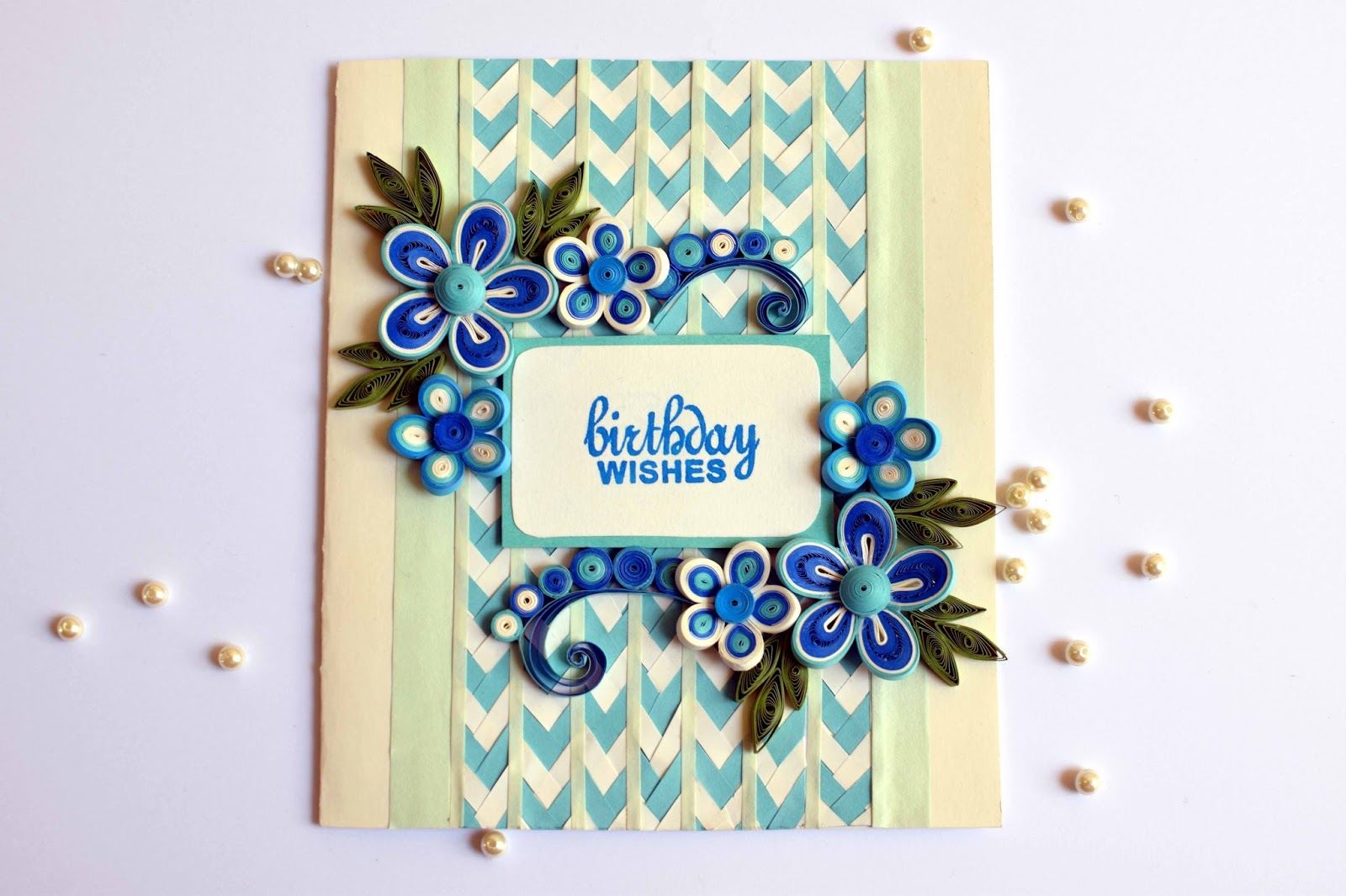 I Took 10 X 7 Card Stock For Base First Added Braided Pattern On It Then Arranged Flowers And Birthday Sentiment