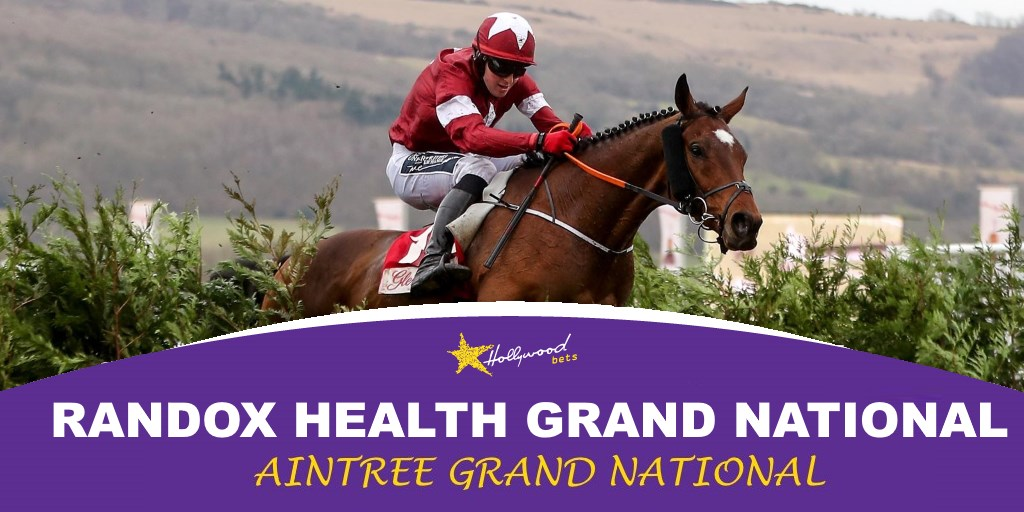 Randox Health Grand National - Tiger Roll clearing the fence - Hollywoodbets