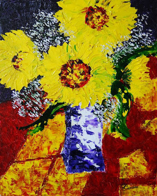 http://paintingsbylyndacookson.blogspot.fr/2016/05/sunflowers-and-sunshine-by-lynda-cookson.html