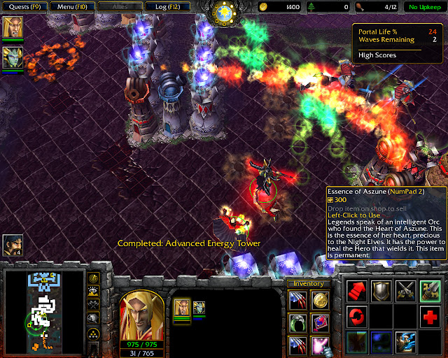 The Crossing Secret Level Mission 12 | Tower Defense Screenshot | Warcraft 3: The Frozen Throne