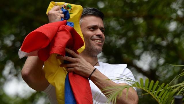 Así fue la excarcelación de Leopoldo López