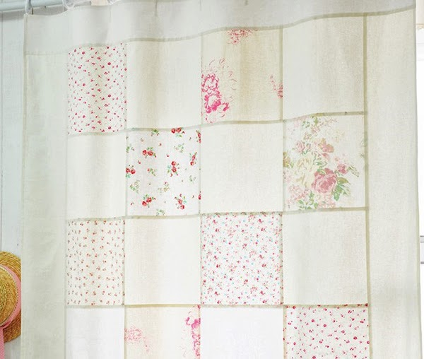 Cream and Pink Shabby Chic Patchwork Panel