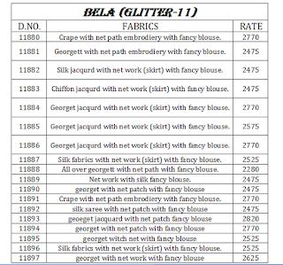 GLITTER VOL 11 BELA SAREES WHOLESALER LOWEST PRICE SURAT GUJARAT