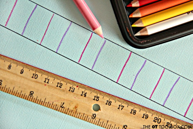 Use colored pencils to work on handwriting with these three handwriting activities that address letter formation, pencil pressure, and pencil control.