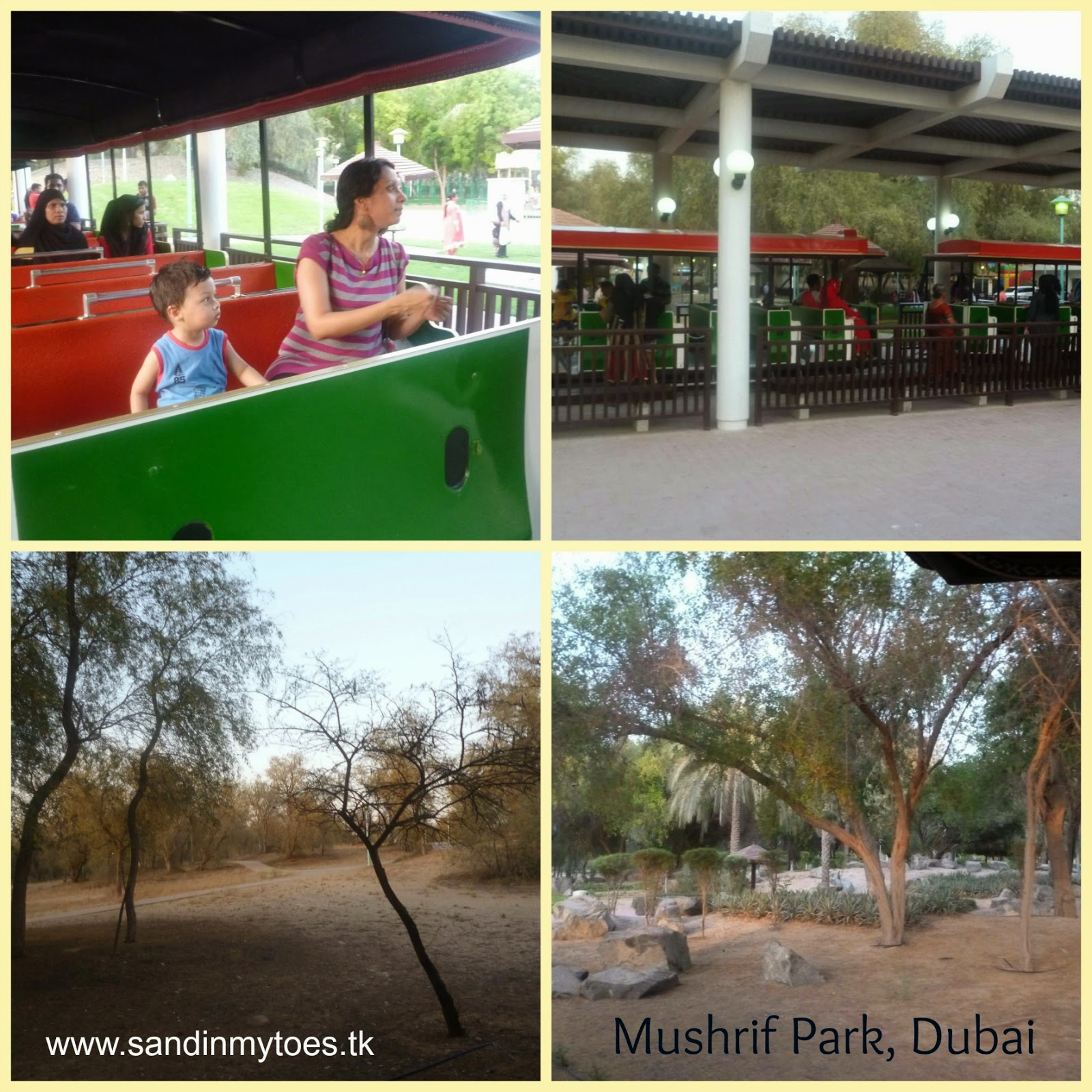 Train ride in Mushrif Park, Dubai