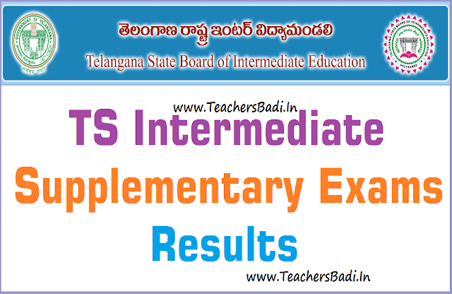 TS Inter,Supplementary Exams,Results
