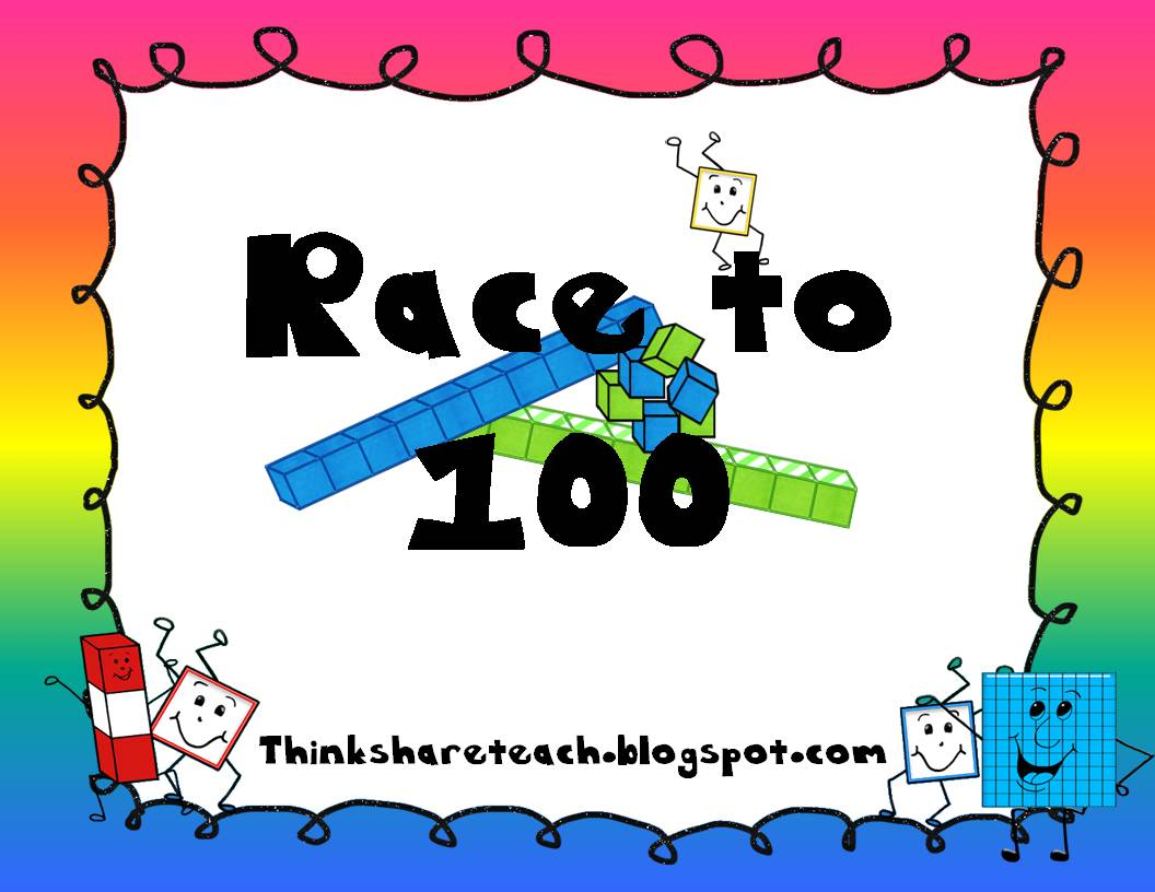 Think Share Teach Race To 100 Place Value Game