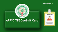APPSC TPBO Admit Card