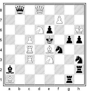 Problema de mate en 2 compuesto por Jacobus Haring (De Maasbode 1952)