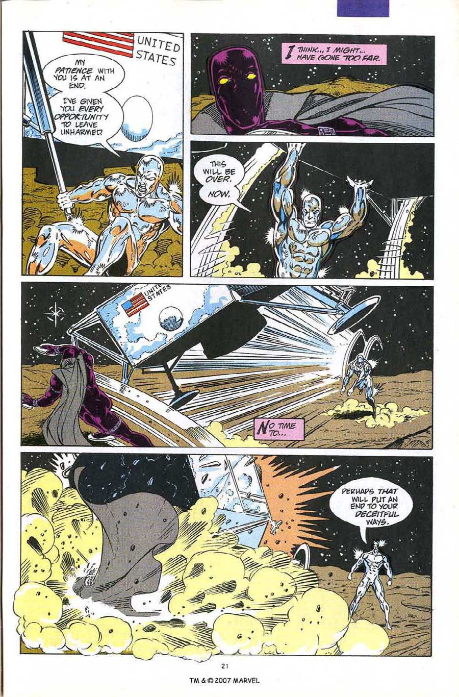 Read online Silver Surfer (1987) comic -  Issue #60 - 23