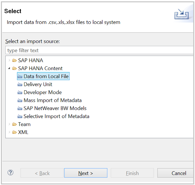 SAP HANA - Loading data from file