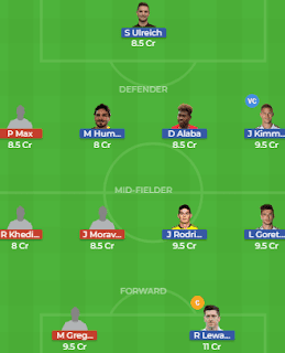 BAY vs AUG Dream11 Team Prediction | Bayern Munich vs Augsburg: Lineup, Best Players