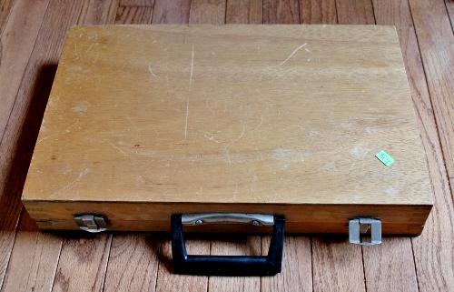 vintage artist's box