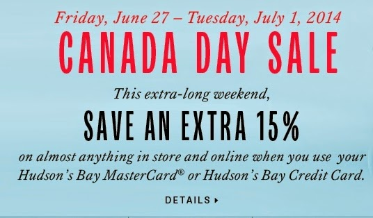 Hudson bay canada day sale