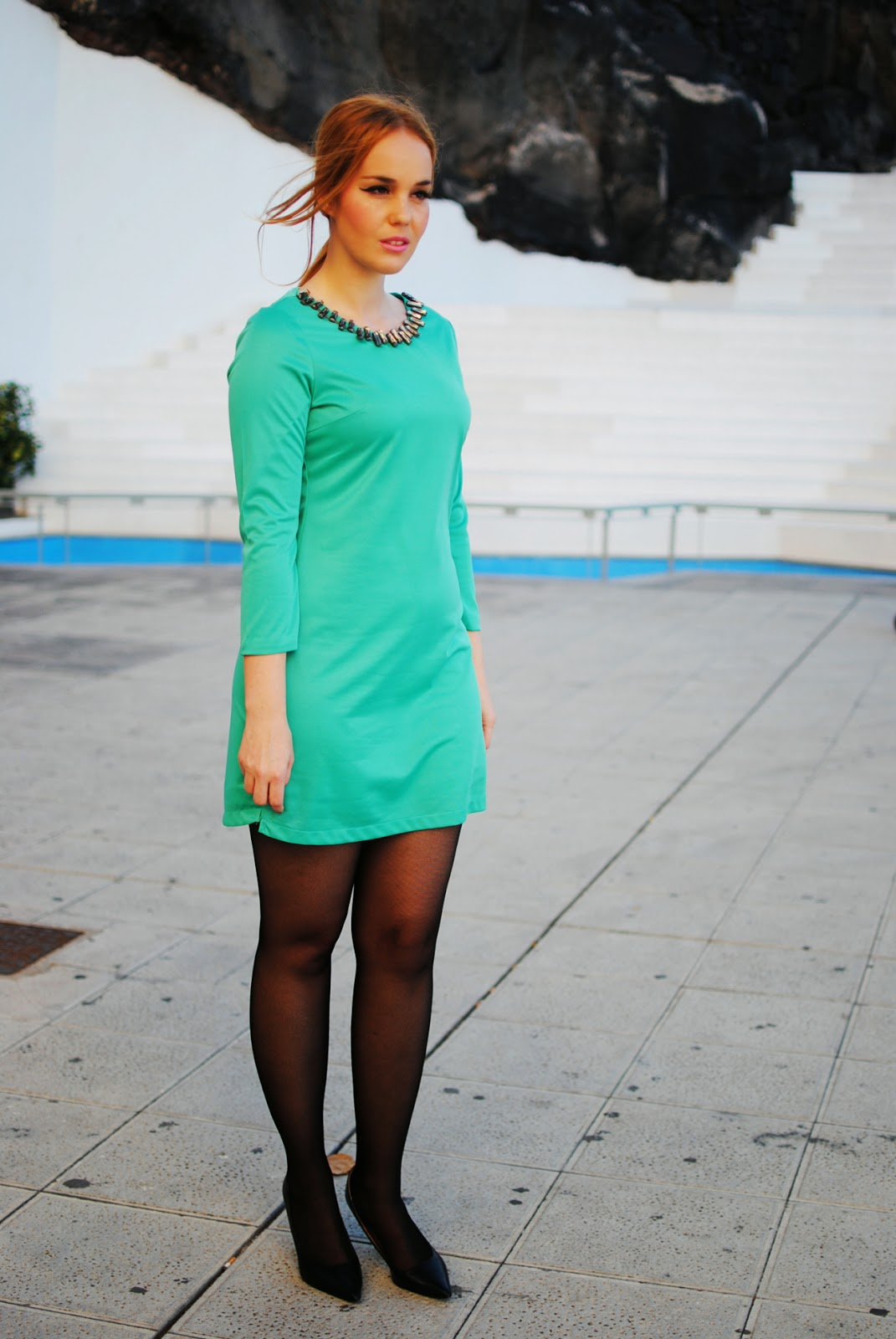 nery hdez, persunmall, persunmall blogger, green dress, blonde