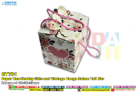 Paper Box Shabby Chic And Vintage Bunga Salem Tali Kor
