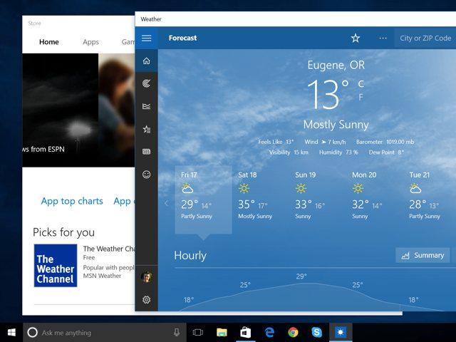 Tampilan universal apps Windows 10