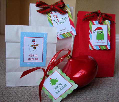 cute christmas free printable tags