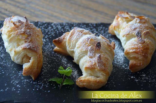 Croissants De Crema De Almendras