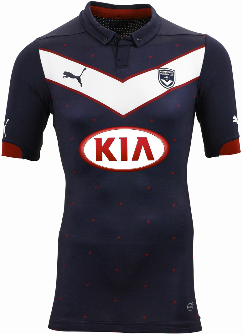New Girondins Bordeaux 14 15 Home Away And Third Kits