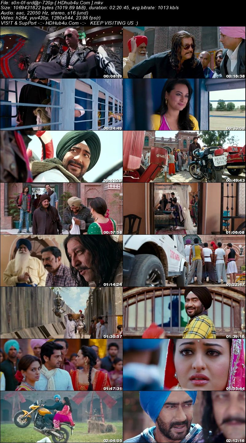 Son Of Sardaar 2012 Hindi Movie 720p BluRay 999mb Download