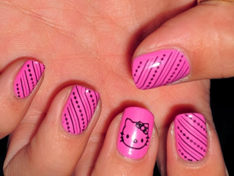Hot pink nail designs 2012