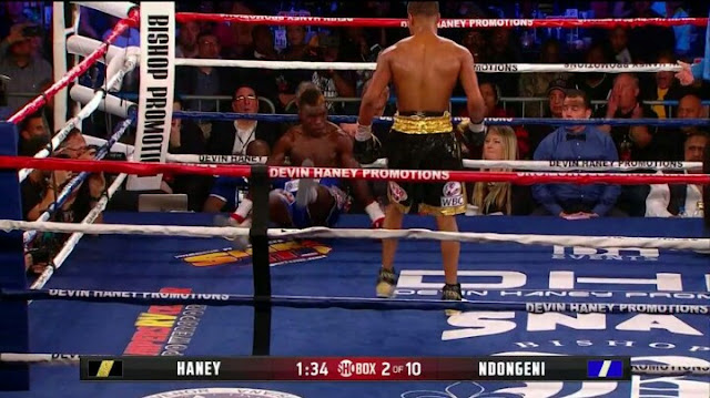Devin Haney Dropped Xolisani Ndongeni in Second Round