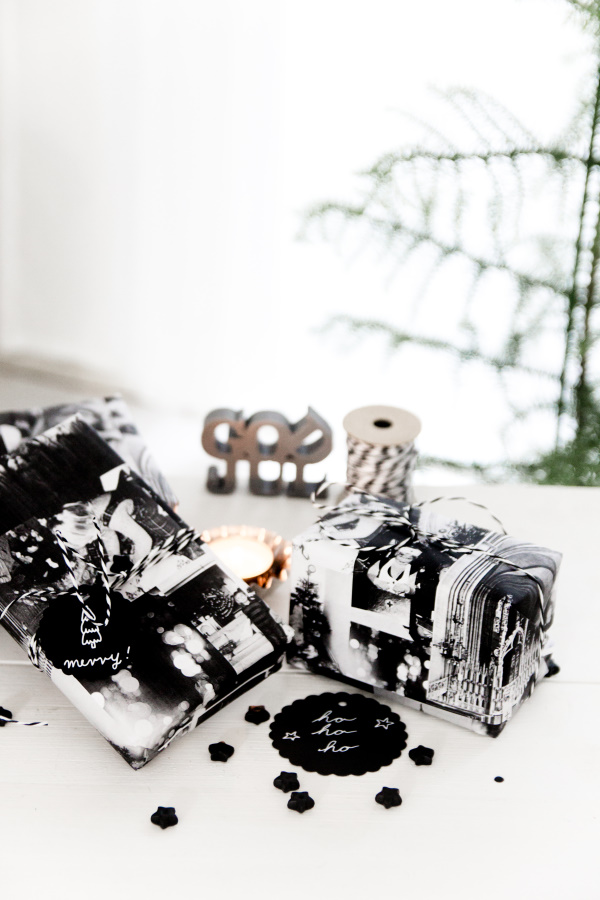 Geschenkpapier zu Weihnachten und Geburtstag selber machen