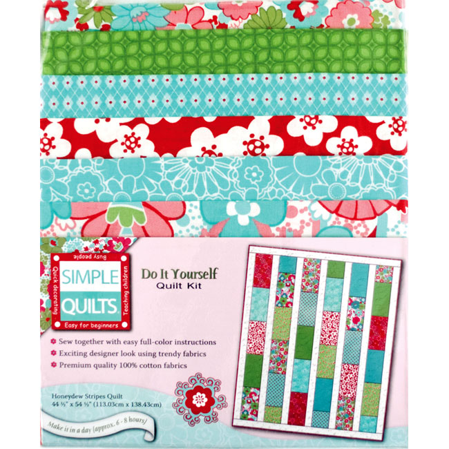 Weekend kits blog simple quilts easy quilt kits for beginners honeydew stripes quilt kit diy solutioingenieria Images