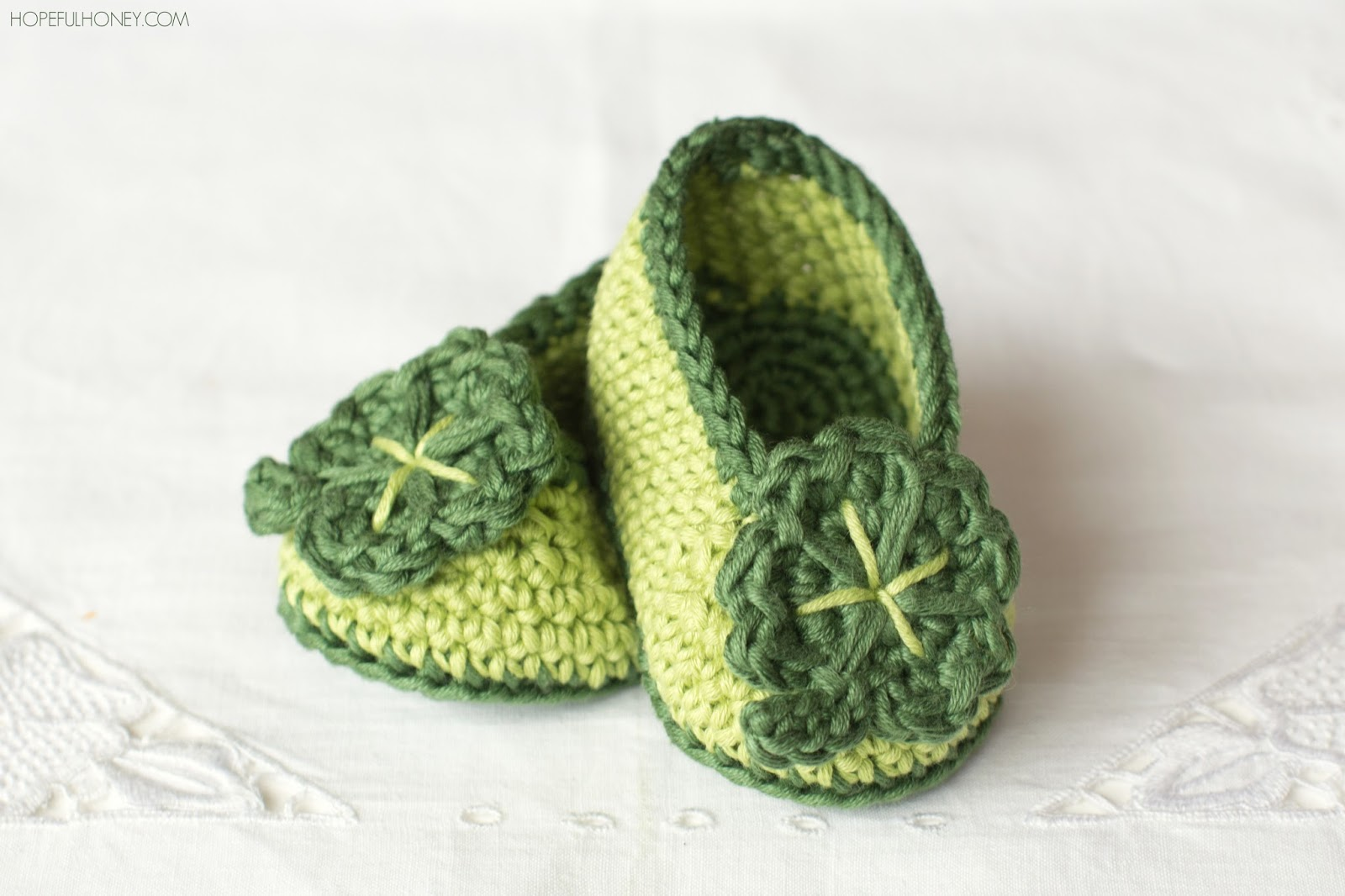 hopeful honey craft crochet create st patricks day shamrock