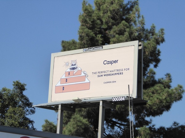 Casper perfect mattress sun worshippers billboard