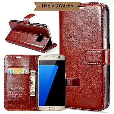 dompet casing hp kulit Leather flip case cover wallet Samsung Galaxy S7 Edge nillkin spigen remax uag original indonesia