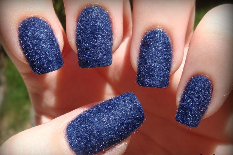 Velvet Nail Art Design