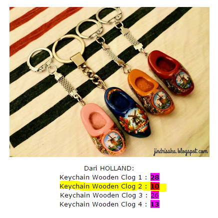 Holland, Jindrisska, souvenirs