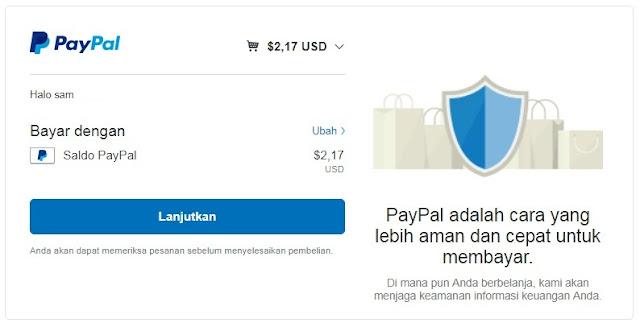 Pembayaran Domain Dengan Paypal