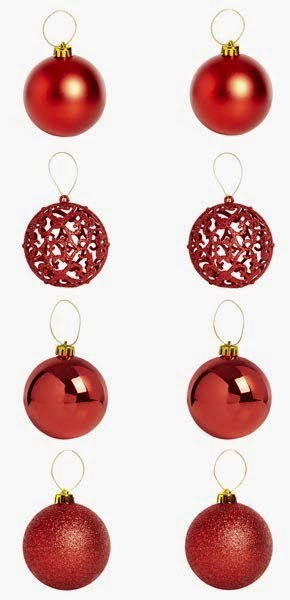 Set de bolas rojas para Navidad de Primark