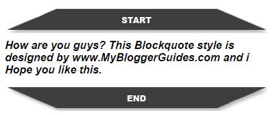 Blogger Blockquote Style 17