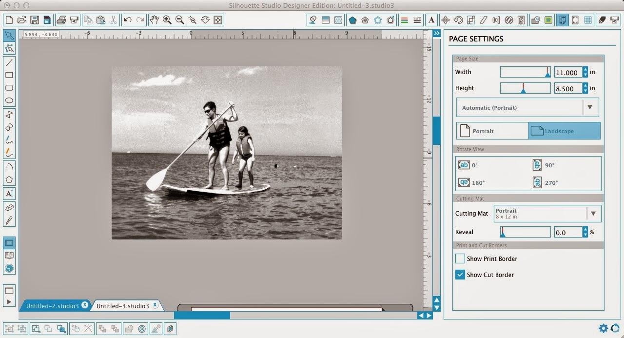 Silhouette Studio, trace, photo, Silhouette tutorial, black and white